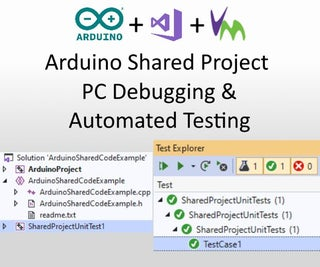 Arduino Shared Project: PC Debugging and Automated Testing