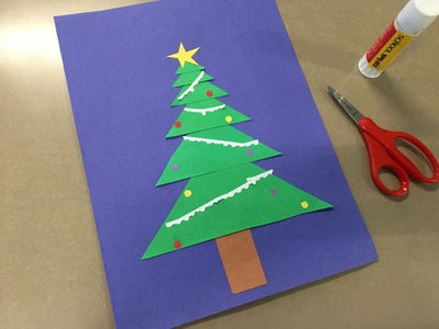 The Exponential Decay Paper Christmas Tree