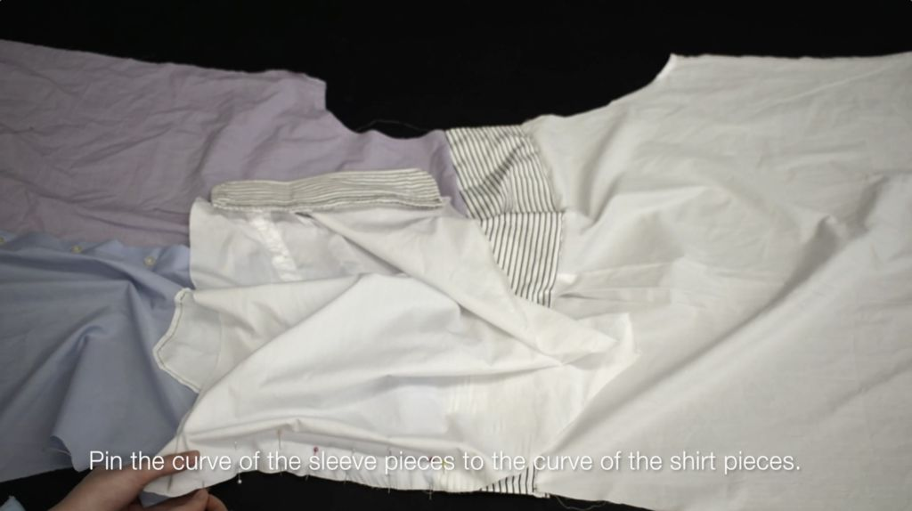 Picture of Attach Sleeves to Shirt Panels