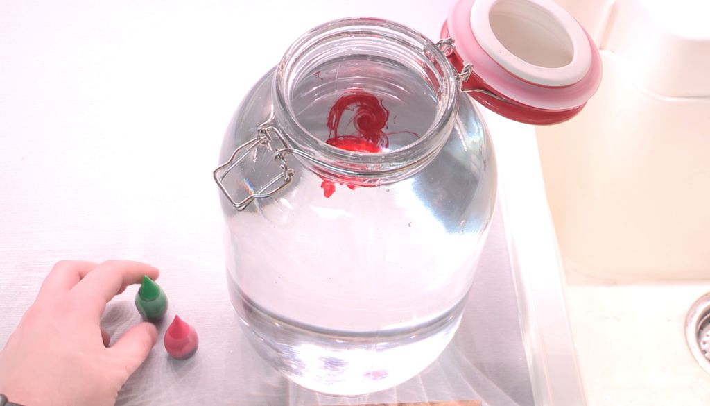 Picture of Fill Jar With Water & Add Food Coloring