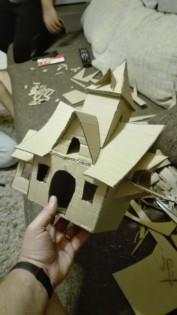 Picture of Detailing the Roof,and the House