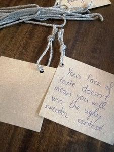 Add a Ribbon or String