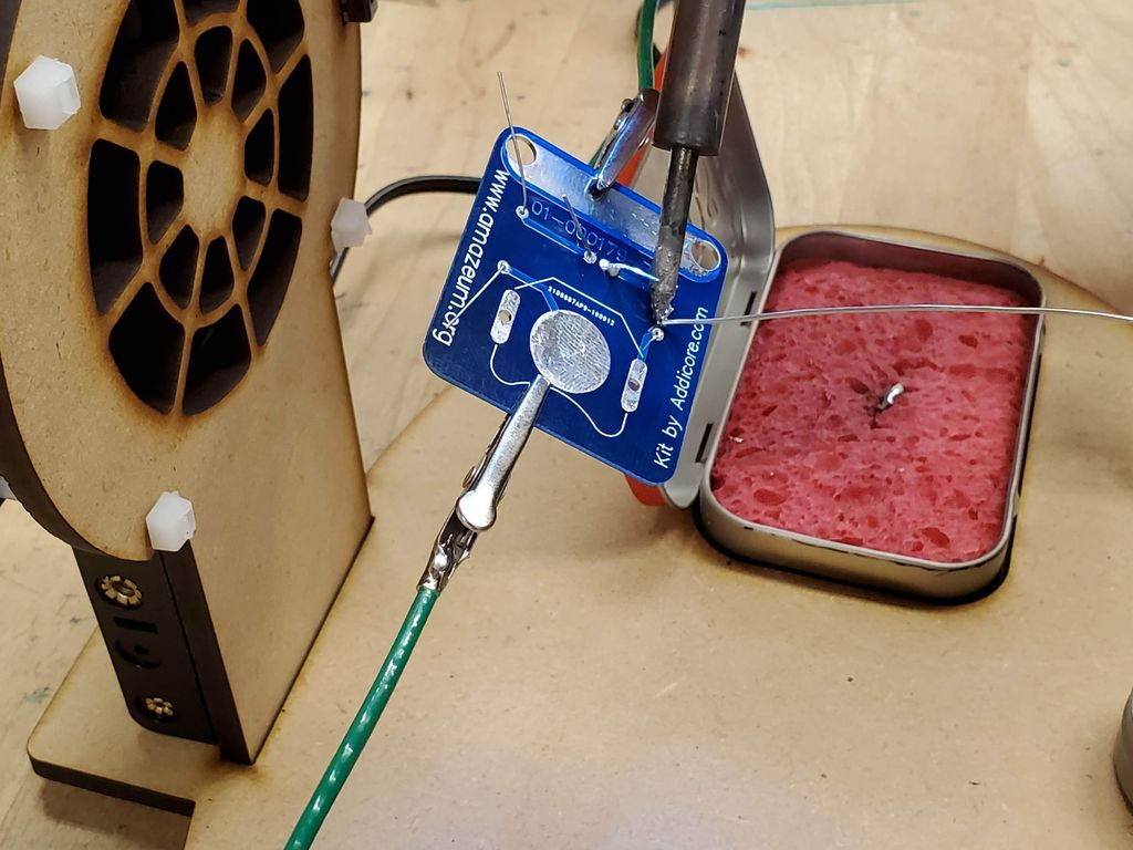 Picture of Put It All Together and It's Time to Use Your Soldering Station!
