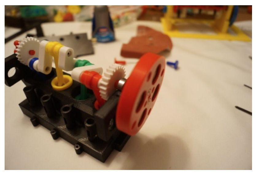 Picture of Attach the Flywheel