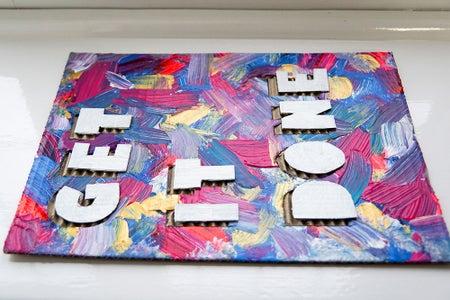 Paint & Glue the Letters