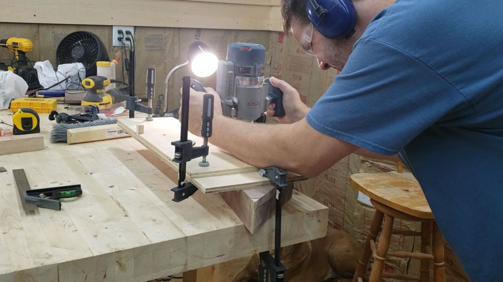 Picture of Mark Out and Cut Grooves for the Brass Inlay