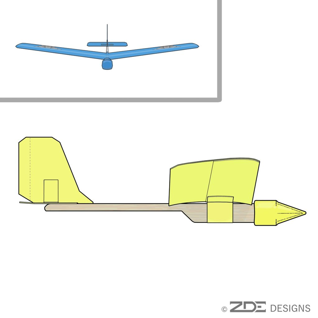 Picture of Pencil Eraser Popsicle Plane