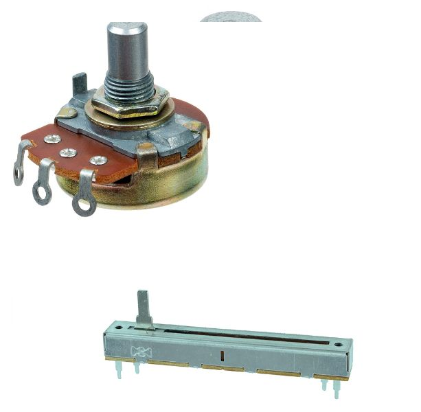 Picture of Slide potentiometer vs Round potentiometer