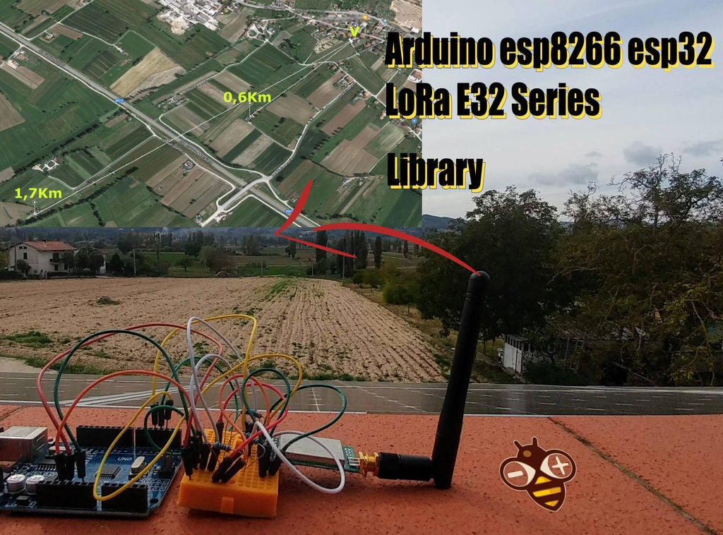 Picture of LoRa 3Km to 8Km Wireless Communication With Low Cost E32 (sx1278/sx1276) Device for Arduino, Esp8266 or Esp32