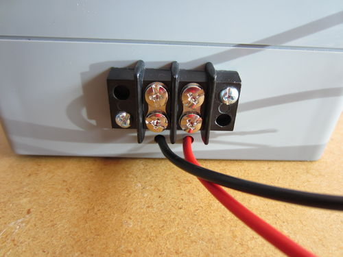 6 - 9 - Connect Power Wires to Barrier Strip.JPG