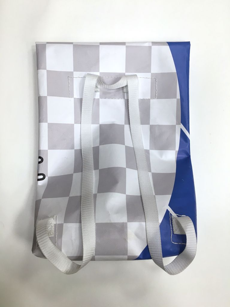 Picture of Messenger Backpack From Recycled Tarp