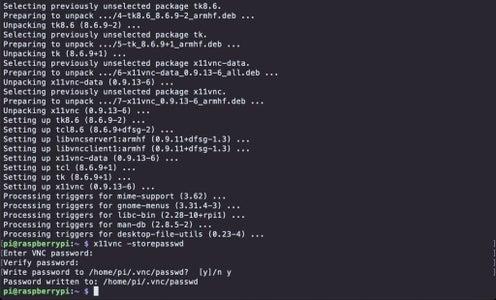 Update Raspbian and Install X11VNC