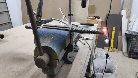 Weld the Handle to the Hammer Head