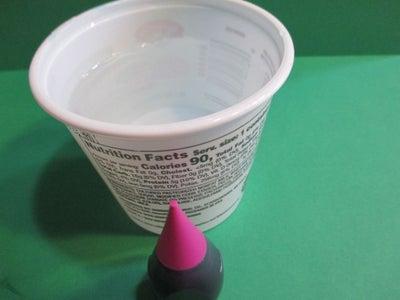 Ice Lanterns Out of Yogurt Cups.