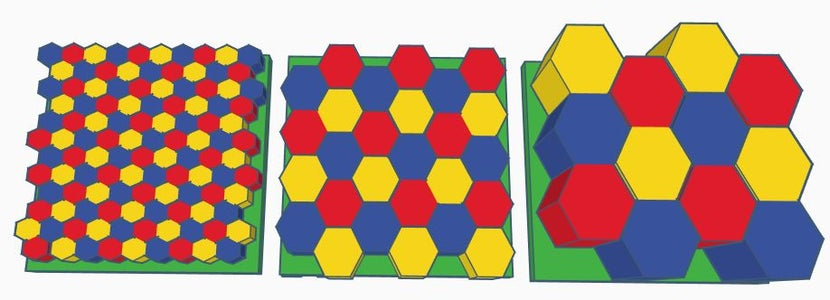 Optimizing Tray Space by Using Hexagons