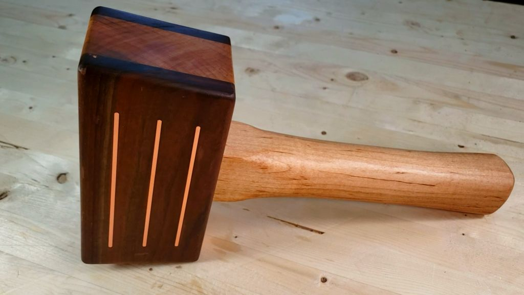 Picture of Wooden Mallet With Brass Inlay