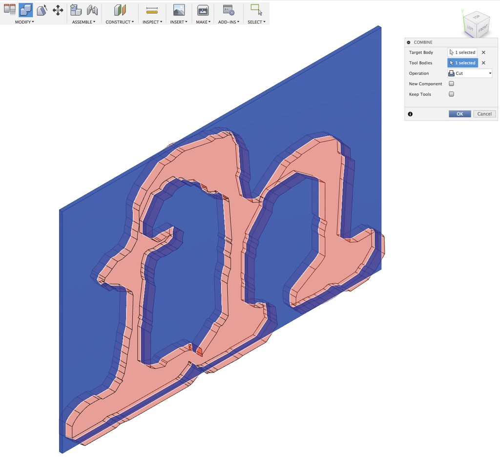 "Picture of Cutout | ""fh"" Logo"