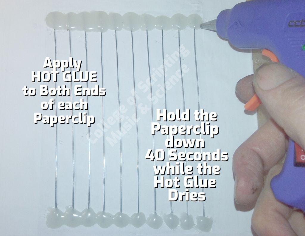 Picture of HOT GLUE Both Ends of Each Paperclip