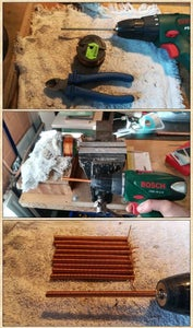 Preparing the Copper Coils and Rings