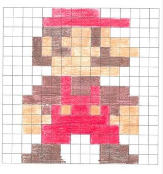 Awesome Pixel Art With Grid @KoolGadgetz.com