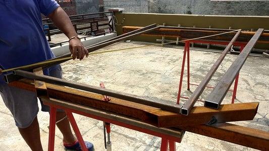 Chamfering & Welding the Main Frame