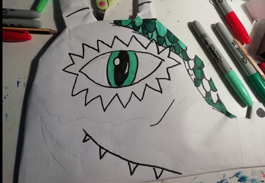 Picture of  Making the Sides of the Dragon Head