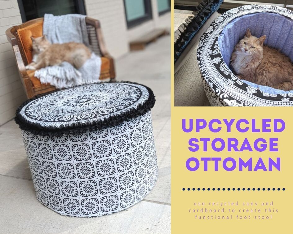 Picture of Upcycled Storage Ottoman