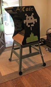 Fitting Into an Original Arcade Box and Mobile Cart.