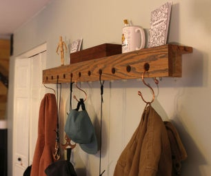 Hooked: DIY Wall Shelf With Hooks