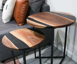 DIY树脂和木材嵌套桌子