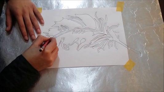 Draw on Pewter Sheet