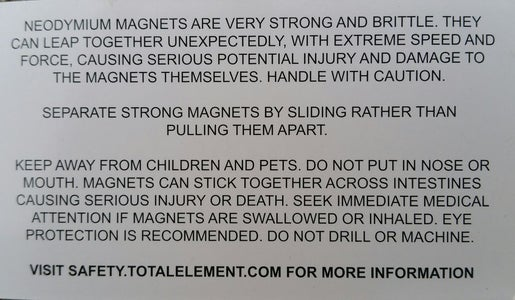 Safety Information for Magnets