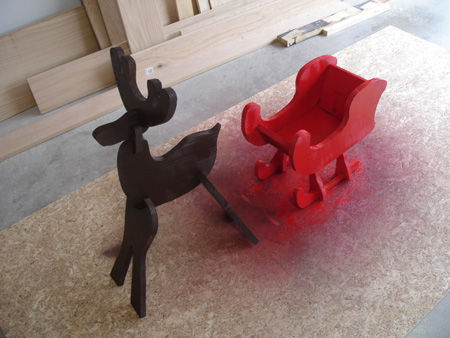 Picture of How-To: Build a Holiday Reindeer and Sleigh for $15