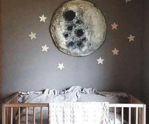 如何使制型纸制作月球壁挂