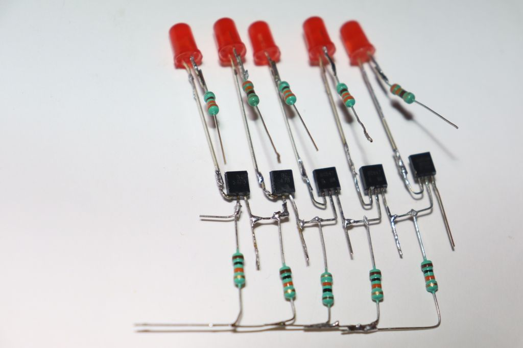 Picture of Connect LEDs to Transistors