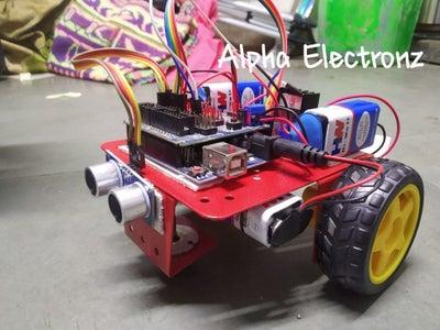 Obstacle Avoiding Bot Using Ultrasonic Sensor and Arduino
