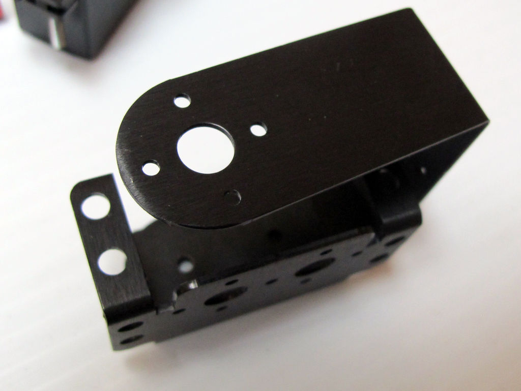 Picture of Prepare the Frame: Mount the C-bracket Pairs to the Servo Brackets