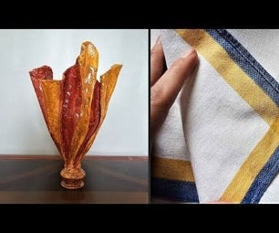 How to Make Vase From Cloth|Plastic Bottle Vase|Plaster of Paris Vase