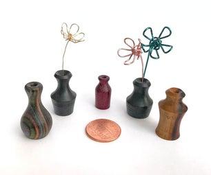 Tiny Wooden Pots