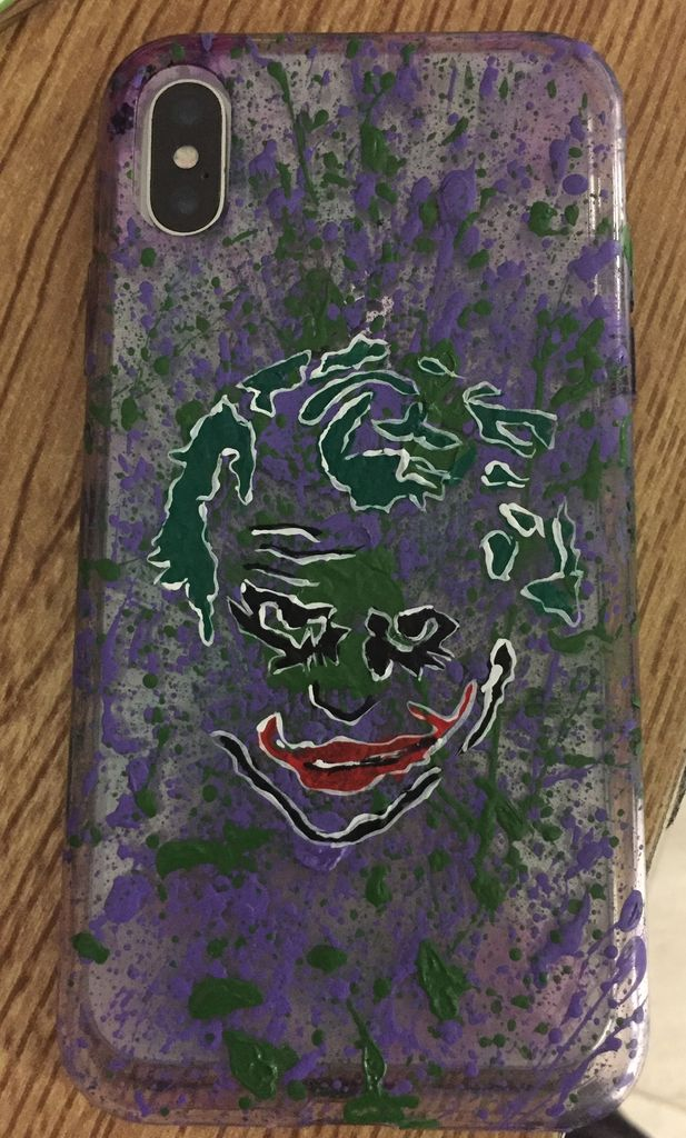 Picture of Step 4 A: Painting the Cut Out Joker Face