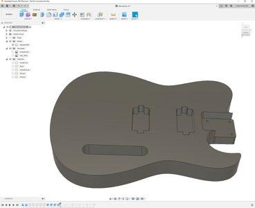 Designing the Guitar in Fusion 360