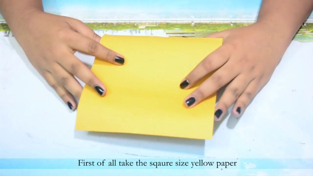 Picture of Fold the Paper to Make a Triangle Shape