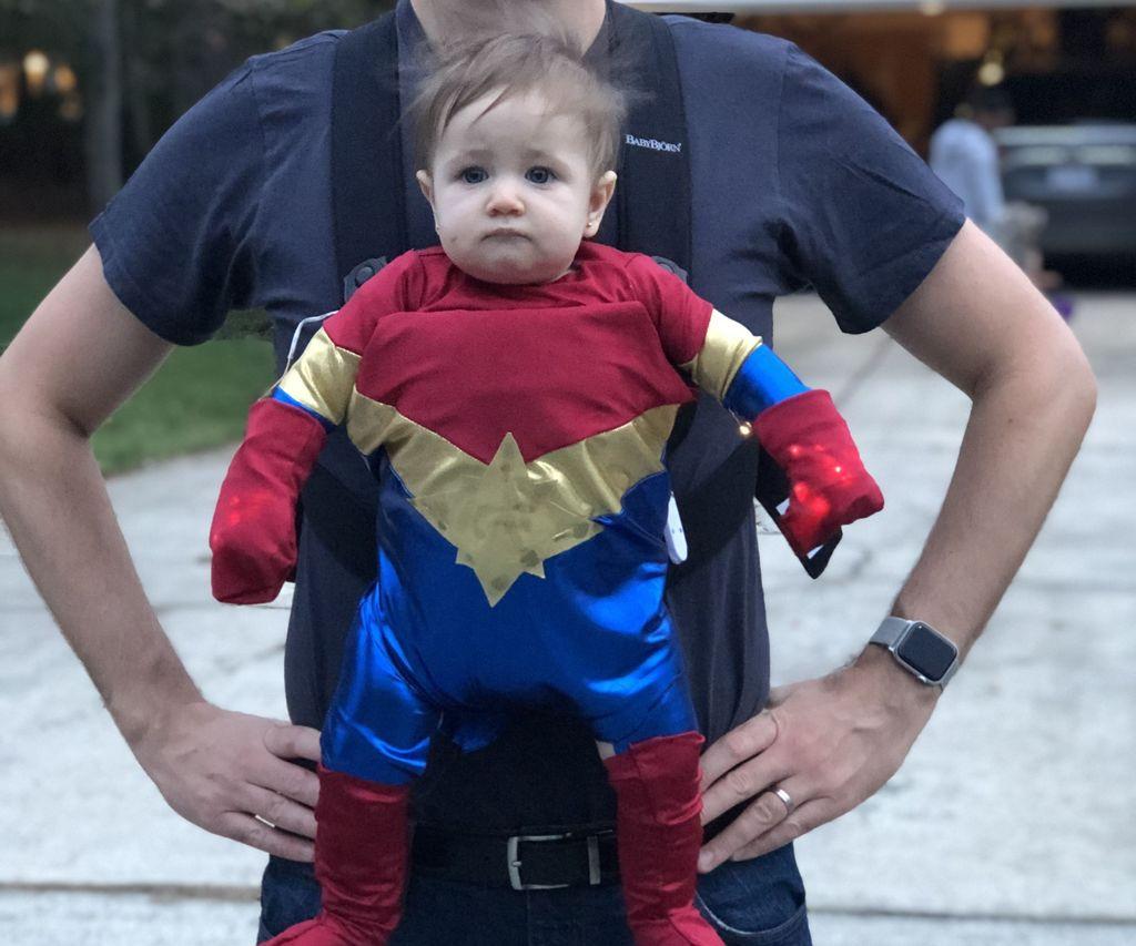 Little Ms. Captain Marvel Costume