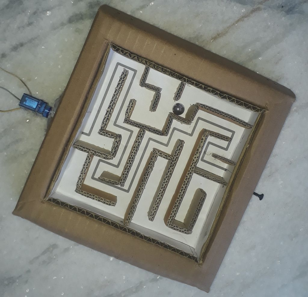 Picture of Creating Maze Tracks and Placing Servo Motors