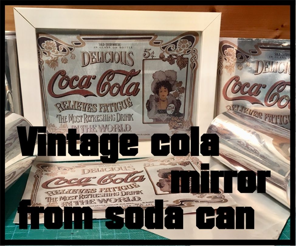 Picture of Vintage Cola Mirror From Soda Can