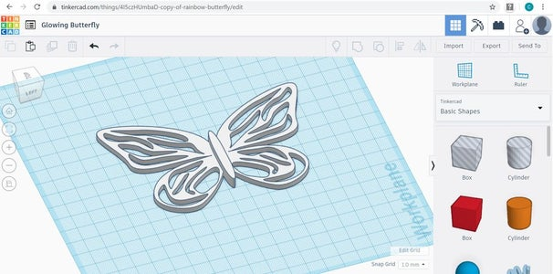 Design Your Glowing Component on TinkerCAD