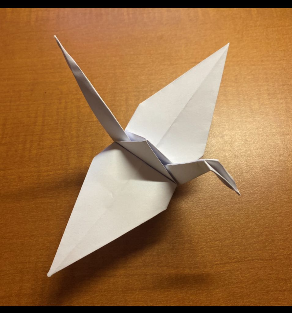 Picture of The Construction of a Paper Crane.