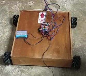 Picture of Mecanum Omni Wheels Robot With GRBL Stepper Motors Arduino Shield