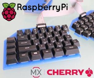 樱桃皮的分离式机械键盘