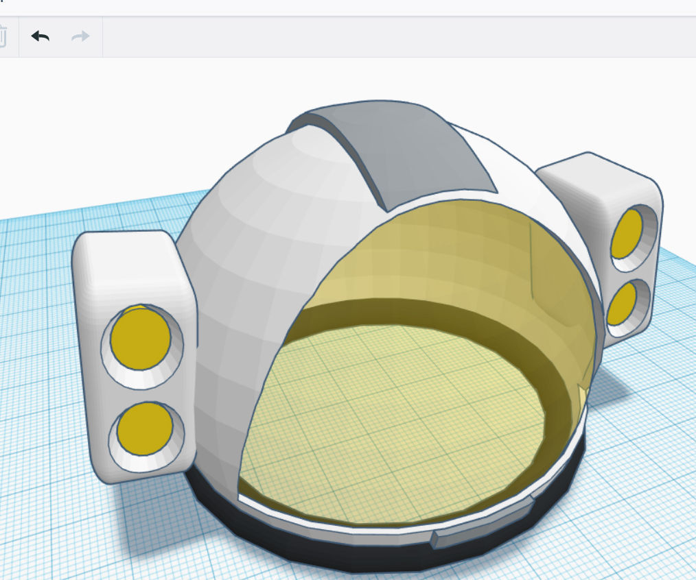 Design a Space Helmet in Tinkercad